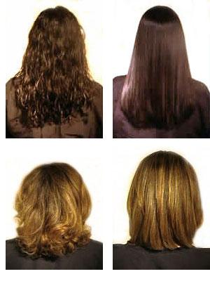 permanenta håret före efter